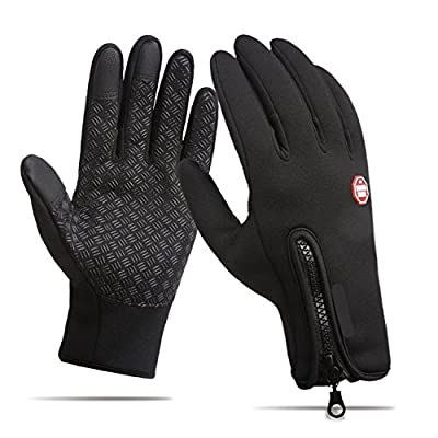 anqier Winter Warm Gloves,Windproof Touchscreen Gloves Outdoor Cycling Running Climbing Gloves for Men Women