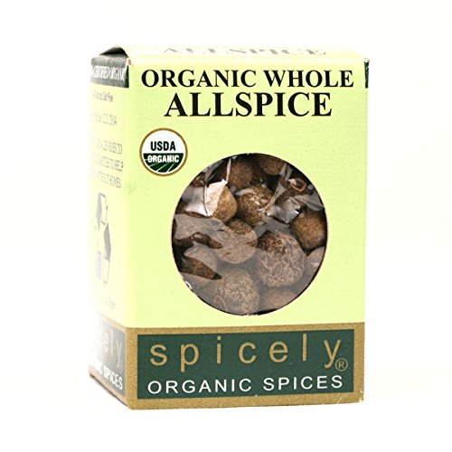 Spicely Organic Allspice Whole 0.30 Ounce ecoBox Certified Gluten Free