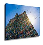 Ashley Canvas Meenakshi Hindu Temple In Madurai Tamil Nadu South India Wall Art Decoration Picture Painting Photo Photograph Poster Artworks, 20x25