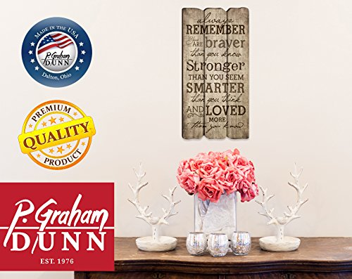 P. Graham Dunn Always Remember You Are Stronger Braver Smarter 12 x 6 Decorative Wall Art Sign Plaque by P. Graham Dunn (Image #7)