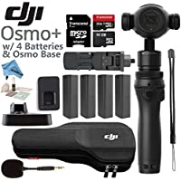 DJI OSMO Plus Premium Bundle - Includes 4 Osmo High Capacity Batteries & Osmo Base & 32GB MicroSD Memory Card