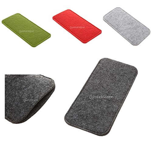 AMAZZANG-Gray Wool Felt Pouch Bag Soft Storage Case for - Eyeglasses Expensive World Most The In