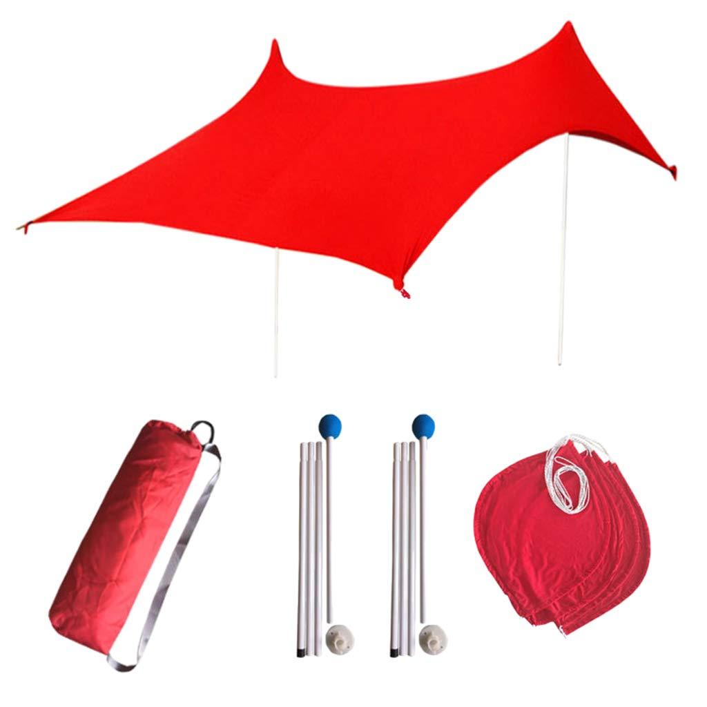 B Baosity Waterproof Sunshade Tent Lightweight Beach Tarp Outdoor Rain Shelter Canopy