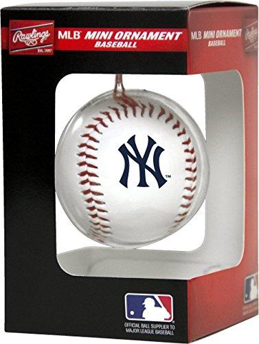 (Rawlings MLB New York Yankees MLB Ornament N Replica Baseballmlb Ornament Replica Baseball, White )