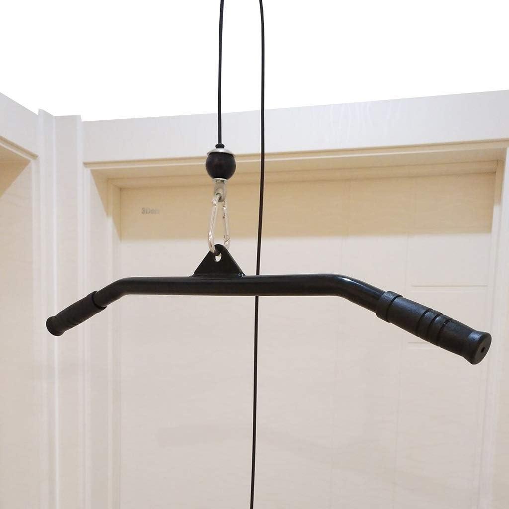 Adjunto Culturismo Por Cable, 39inch Pro-Grip Rotatorio Curl Bar, Tríceps Aprieta La Barra Lateral Tirar Hacia Abajo Barra De Archivos Adjuntos De La Manija For La Máquina De Cable, Las Empuñaduras An