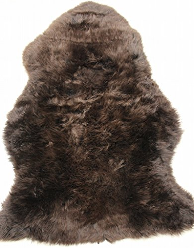 FurFurMouton New Zealand Sheepskin Rug Single One Pelt 2.3 ft. x 3.5 ft. RLS95N (Chocolate)