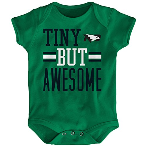 NCAA North Dakota Infant Tiny But Awesome Short Sleeve Onesie, Fairway, 18 Months Fairway Fan