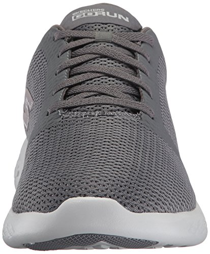 Uomo Go Sportive Scarpe 600 Refine Run Indoor Skechers Grigio Charcoal 74qwT0w