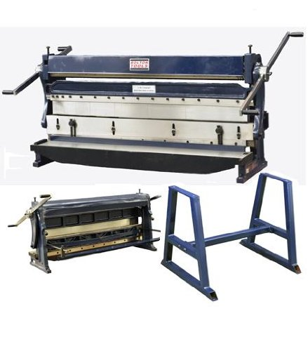 BOLTON TOOLS 52'' Combination 3 in 1 Sheet Metal Machine - COMBINATION 3-in-1 SHEAR, BRAKE AND ROLL. Comes With A 1 Year Warranty!! by Bolton Tools