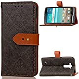 "LG G3(5.5"")case,D852/D850/D851/D855 case,Bujing Black Embossed Mural Pattern,Synthetic Leather+Soft TPU Card Slot Stand Wallet Case Only For LG G3(5.5"")(2014)"