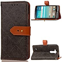 """LG G3(5.5"""")case,D852/D850/D851/D855 case,Bujing Black Embossed Mural Pattern,Synthetic Leather+Soft TPU Card Slot Stand Wallet Case Only For LG G3(5.5"""")(2014)"""