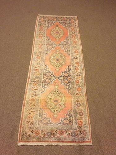 2x6.6 Feet Silk On Cotton Faded Handicraft Rug Ethnic And Contemporary Rug Runner Vintage Rug Runner Corridor Rug Aisle Rug Hallway Rug Lobby Rug Passage Rug Hall Rug.Code:F659