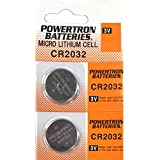 USARemote Battery CR2032 3V for Car Remote Key Fob Keyless Entry Watch (Pack of 2)
