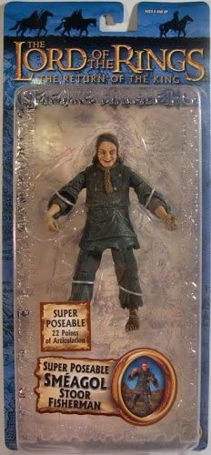 Lord of the Rings Trilogy Return of the King Action Figure Series 4 Super Poseable Smeagol Stoor Fisherman Toybiz lotrspssf