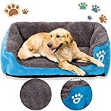 PrettyQueen Dog Bed Pet Cat Warm Bed Soft & Cozy Machine Washable for Medium and Small Dogs Cats(L, Blue) Review