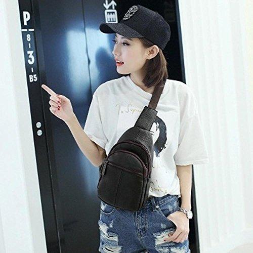 Aoligei Sac de poitrine casual féminin unique sac à bandoulière mode A
