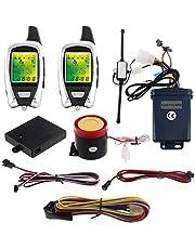 EASYGUARD EM209 Two Way Motorcycle Alarm kit Remote Engine Start Microwave Sensor Colorful LCD Pager Display Shock Sensor Proximity Sensor Universal Version DC12V