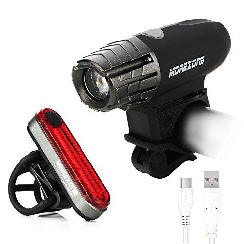MOREZONE USB Rechargeable Bike Light