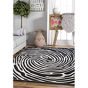 Amazon Com Whorl Black White Modern Swirl Microfiber 8x11