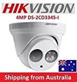 Hikvision 4MP WDR EXIR Turret Network Camera DS-2CD3345-I 2.8mm Lens Security Surveillance Dome Camera POE H.265 ONVIF Outdoor IP Camera International Version