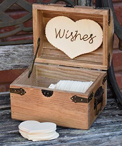 Personalized Rustic Wedding Wood Chest - Guest Book Alternative - Shabby Shic Wedding - Advice Box - Wedding Wishing Well -