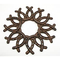 IWGAC 0184S-0072 Cast Iron Horseshoe Wreath