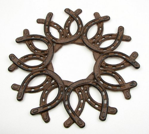 IWGAC 0184S-0072 Cast Iron Horseshoe Wreath -