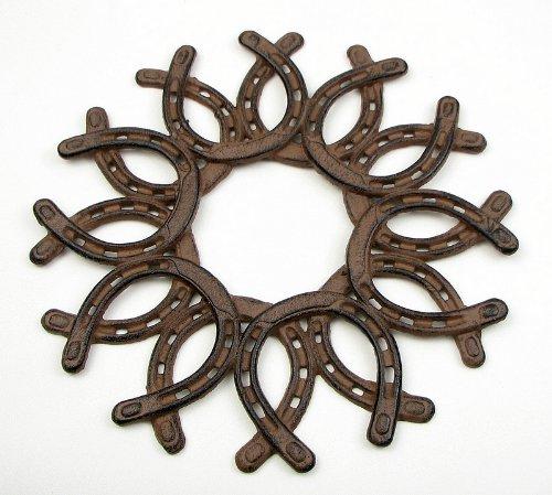 IWGAC 0184S-0072 Cast Iron Horseshoe Wreath from IWGAC