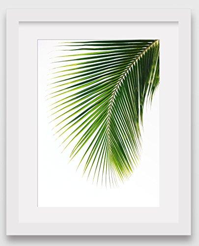 10 Leaf Tropical - Palm Leaf Print, Abstract Tropical Leaf, 8 x 10 inches
