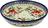 Polish Pottery Pie Dish 10-inch Flower Heaven UNIKAT