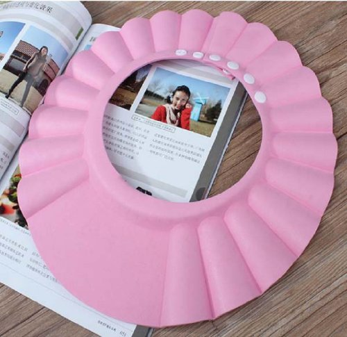 Susen Safe Shampoo Shower Bathing Protect Soft Cap Hat for Baby Children Kids (Pink)