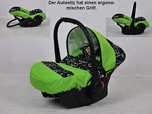 Graphite Poussette Largo jeu de 3/en 1/coffre Buggy pour si/ège auto Noir