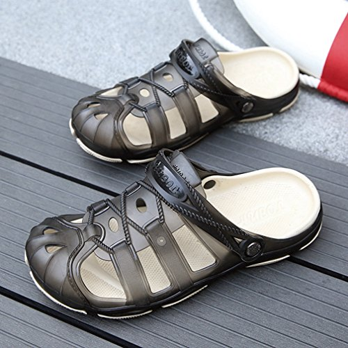 Quick Black Men's Slippers Pool Garden Sandals Water T Dry Strap Shower JULY Athletic Adjustable Back Summer Zxxw67Aq