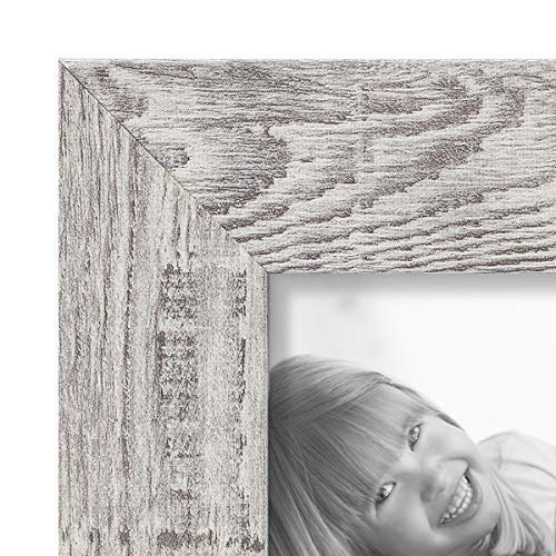 Boichen 4 Pack 8x10 Picture Frame Wood Pattern High Definition Glass Rustic Photo Frame Tabletop or Wall,Wave Woodgrain Photo Frames by Boichen (Image #2)