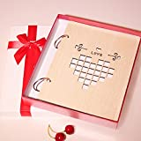 LANNA SHOP- Creative Photo Album, Wedding Anniversary Memo wooden Album, For 240 print Photos With A Size Of 4 inch/11x8.3cm ( Color : Love wall )