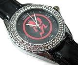 Happy New Year Gifts USFS357 New Leather Diamond Crystal Watch/ ICP Insane Clown Posse Juggalos Hatchet Man R