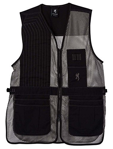 Browning Trapper Creek Shooting Vest-Gray (Large, right) (Large Trapper)