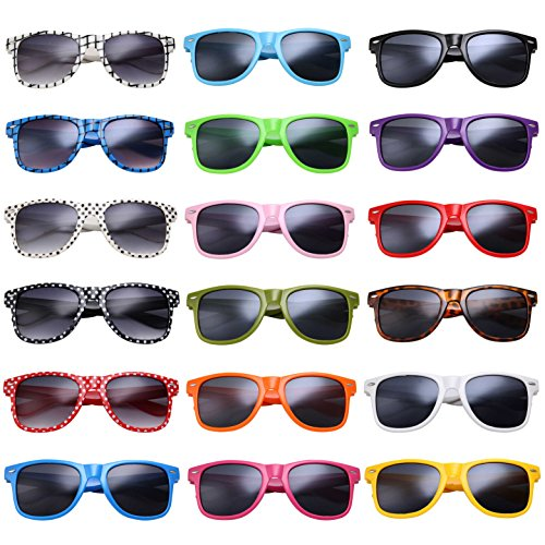 grinderPUNCH 24-Pack Party Shades Sunglasses Classic Style Assorted - Sunglass Lot