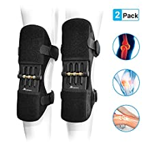 ANCROWN Knee Braces Joint Support, Power Stabilizer Pad, Patella Lifts Protection Booster, Protective Gear with Powerful Rebounds Spring Force for Men/Women Leg Arthritis, Gonitis, Meniscus Tear Pain