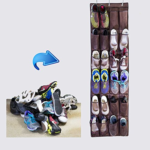 Free shipping over the door shoe organizer with 24 for 12 pocket over the door shoe organizer