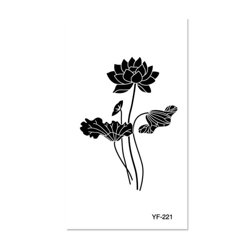 9 piezas tatuaje tatuaje pegatinas impermeable tatuaje femenino ...