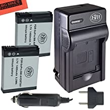 Pack of 2 AHDBT-001, AHDBT-002 Batteries & Battery Charger for GoPro HD HERO, HERO2 Camera + More!!
