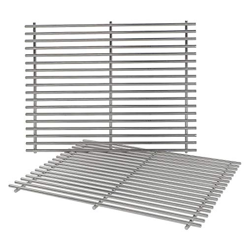 (QuliMetal 7528, 304 Stainless Steel Cooking Grates (19.5 x 12.9 x 0.6) for Weber Genesis E and S Series 300 E310 E320 S310 S320 Gas Grills)
