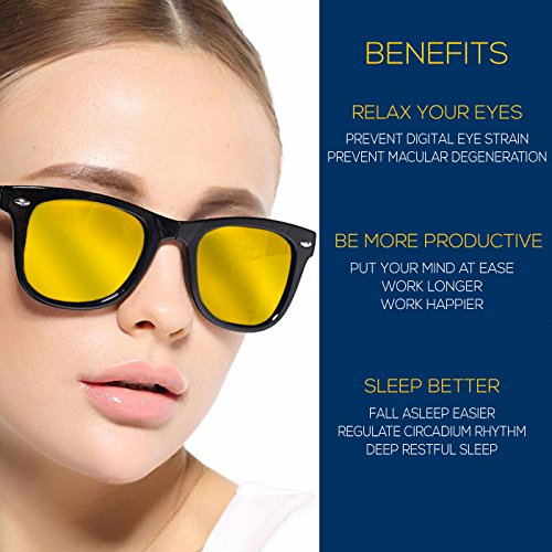 Aspectus Blue Light Blocking Glasses | Premium Gamer & Computer Eyewear | Anti-Blue Light Lenses for Deep Sleep & Relaxation | Eye Strain Relief Anti Glare Glasses | Computer Glasses for Men & Women by Aspectus (Image #7)