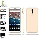 Indigi Android 6 Smartphone (4G LTE Unlocked + Quad Core CPU + 1GB RAM + 32GB Micro SD Included) - 5.6 - White/Gold