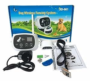 Amazon Com Wireless 1 2 3 Dog Fence No Wire Pet