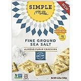 Simple Mills Naturally Gluten-Free Almond Flour Crackers, Fine Ground Sea Salt, 3 Count