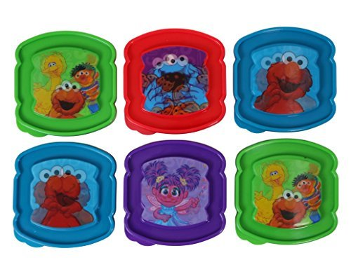 Evriholder Holographic 3D Sesame Street Sandwich Sav'r Container 6-Pack (Assorted Sesame Street Characters)) -