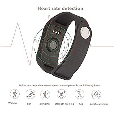 Fitness Tracker, Heart Rate Monitor Smart Watch IP67 Waterproof Pedometer Heart Rate Monitor Activity Tracker, Bluetooth 4.0 Smart Fitness Tracker Armband | Wristband | Bracelet