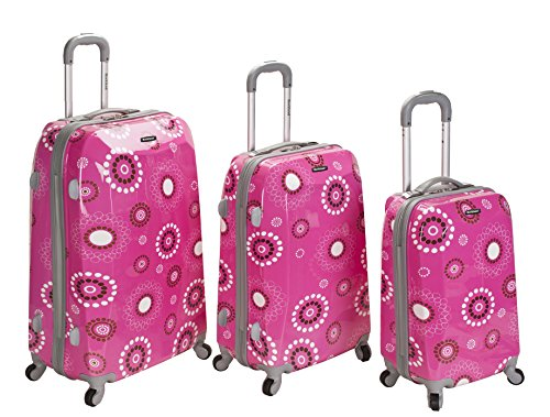 UPC 675478150139, Rockland Luggage Vision Polycarbonate 3 Piece Luggage Set, Pink Pearl, One Size